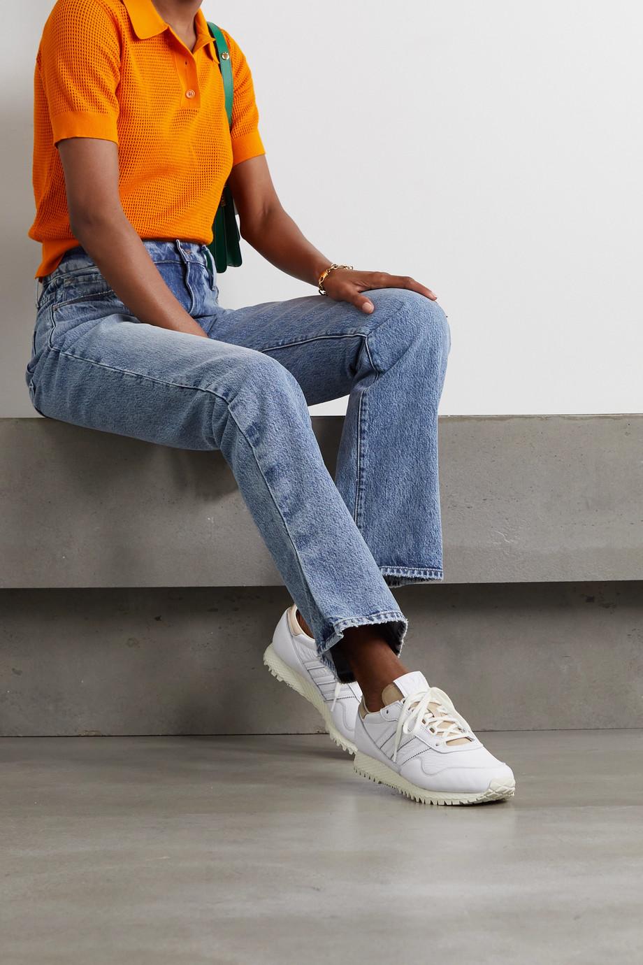 adidas Originals Baskets en cuir texturé gaufré New York - NET SUSTAIN