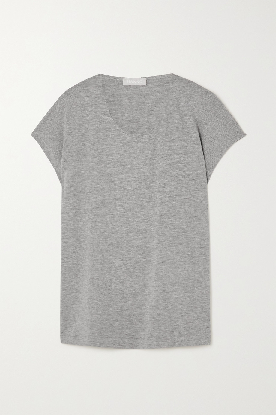 Hanro T-shirt en jersey stretch chiné Natural Elegance