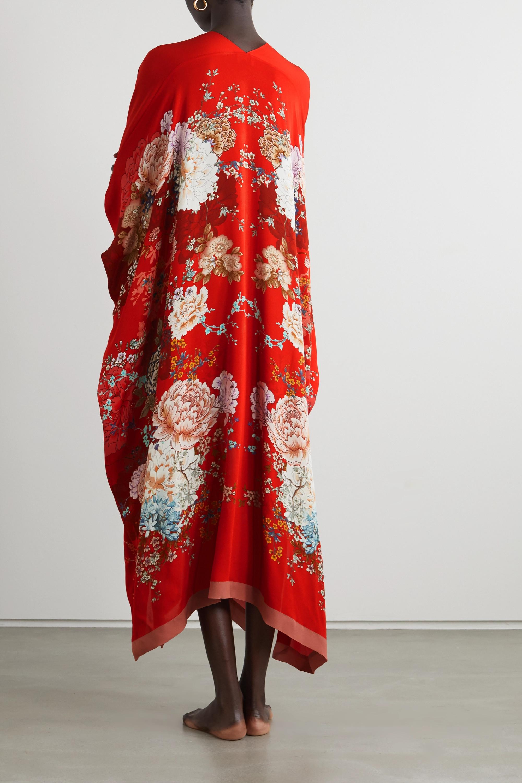 MENG Kaftan aus Seiden-Georgette mit Blumenprint