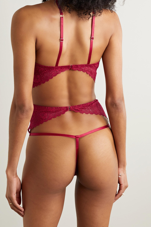 Coco de Mer Marilyn cutout lace thong bodysuit