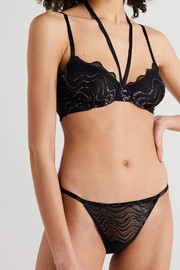 Coco de Mer Katharine scalloped stretch-lace underwired soft-cup plunge bra