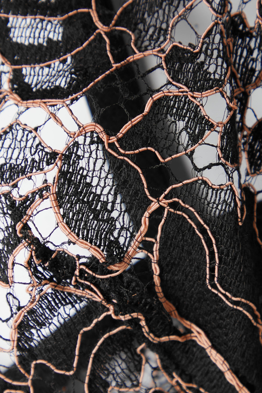 Coco de Mer Rivera satin-trimmed corded lace underwired plunge bra