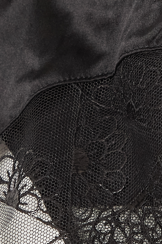 Coco de Mer Evita cutout lace and stretch-satin briefs