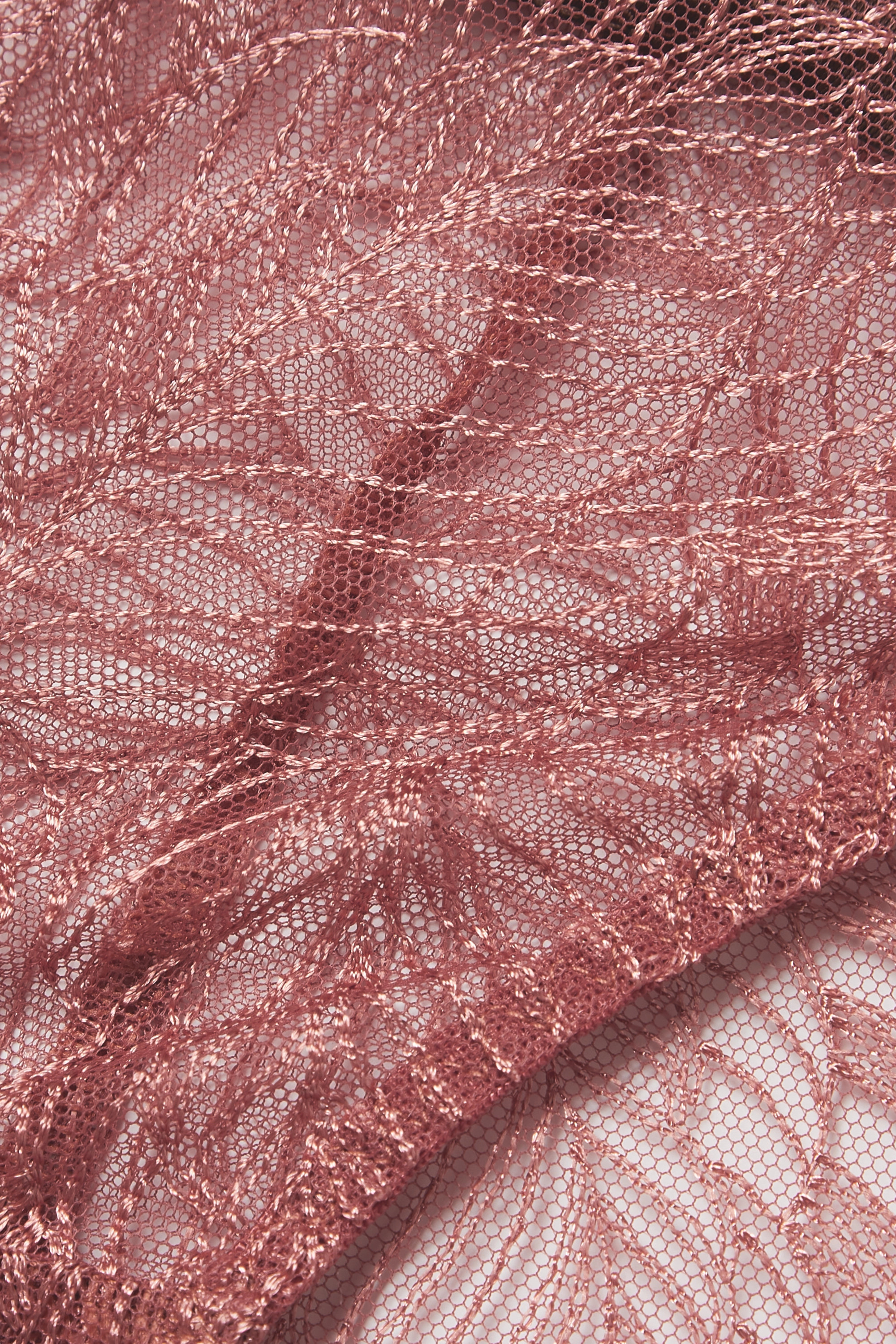 Coco de Mer Ophelia satin-trimmed lace briefs