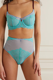 Dora Larsen Ebba stretch-tulle and lace underwired bra