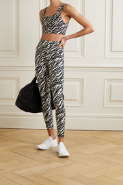 The Upside Zebra-print stretch leggings