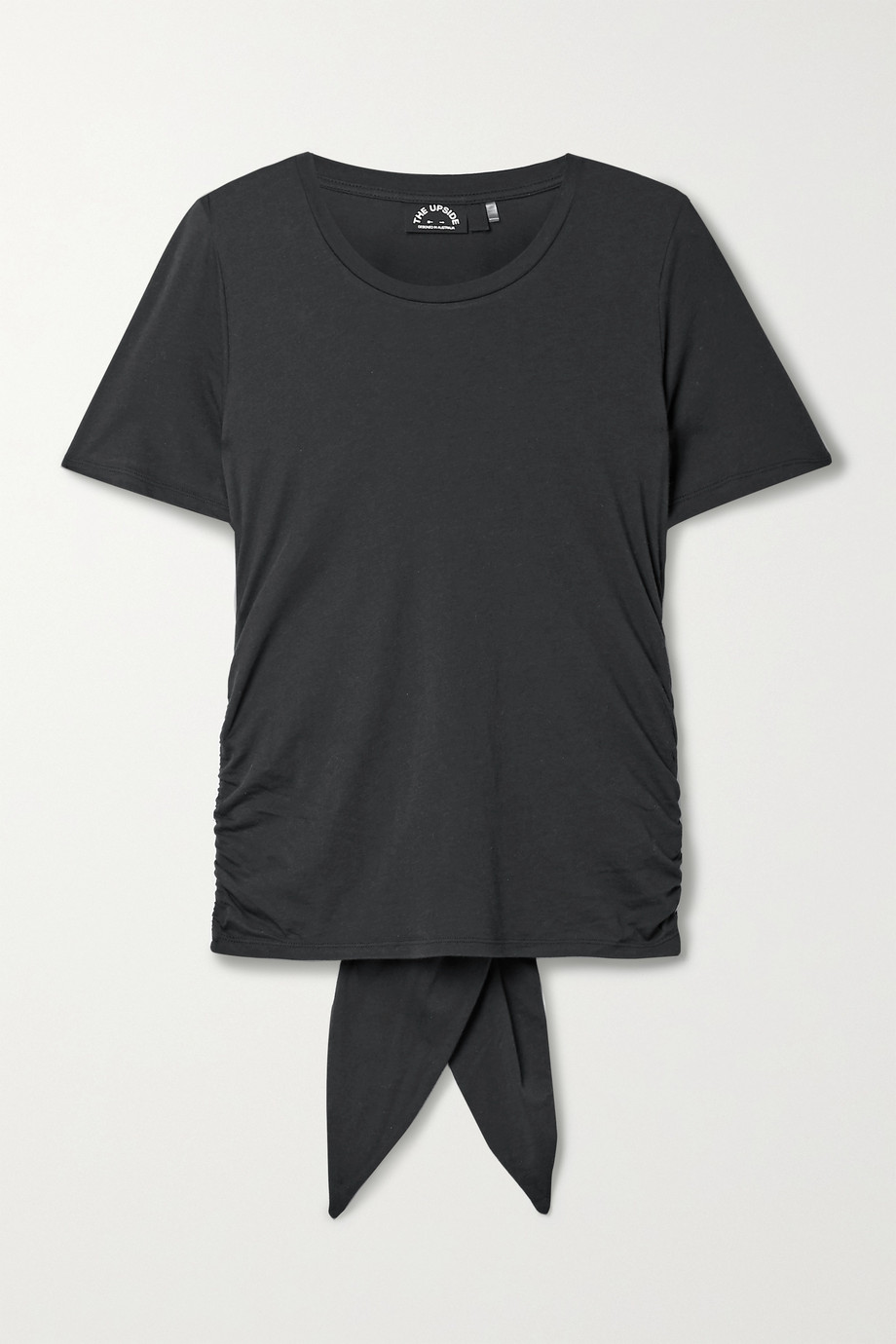 The Upside Camille tie-back ruched cotton and modal-blend jersey T-shirt