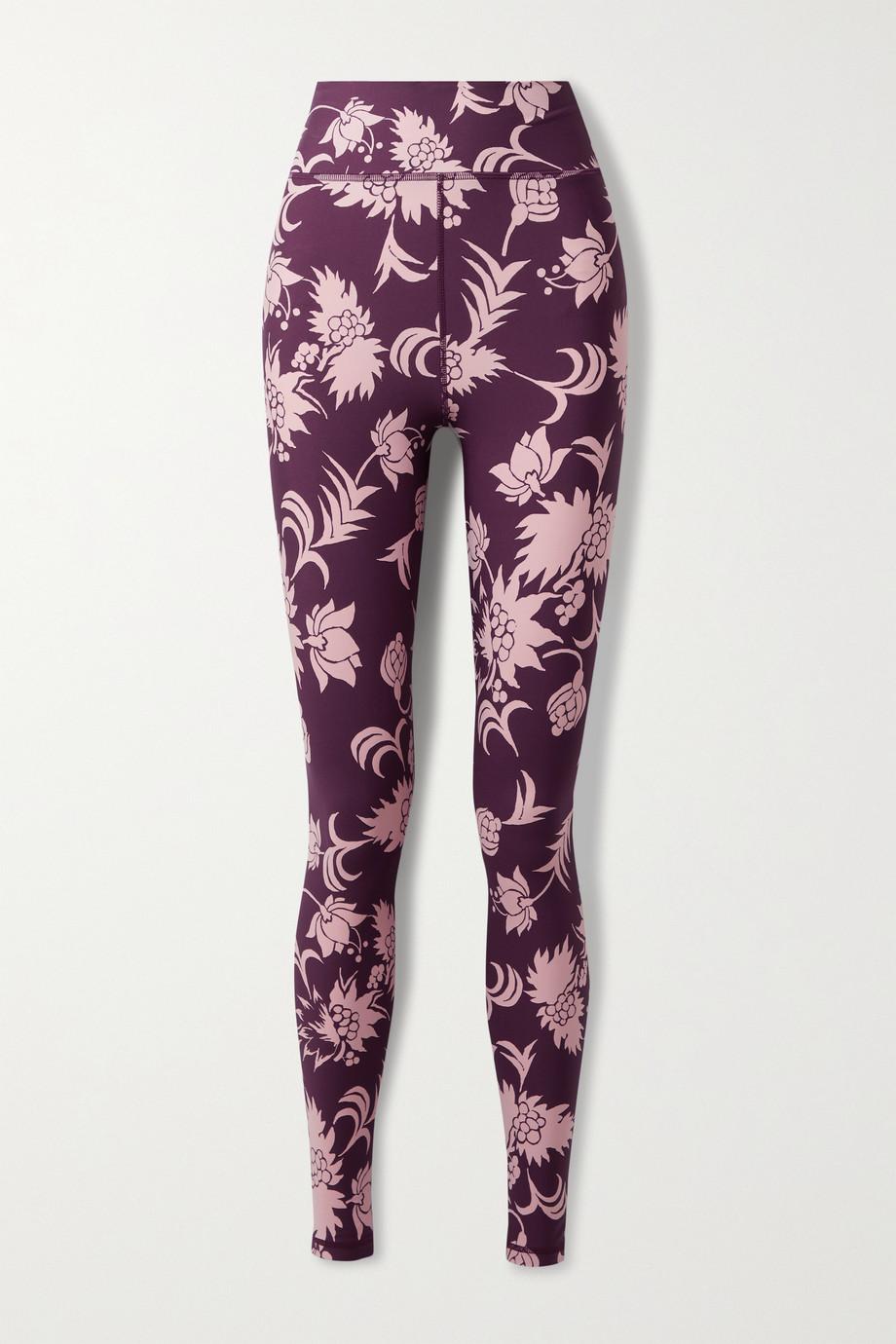 The Upside Kabuki Dance floral-print stretch leggings