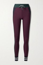 The Upside Heritage color-block striped stretch leggings
