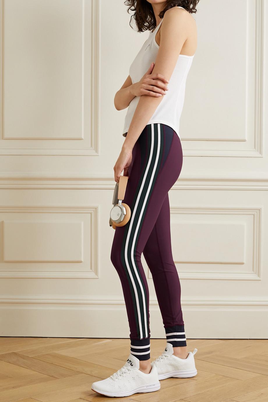 The Upside Heritage color-block striped stretch leggings