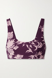 The Upside Kabuki Daisy floral-print stretch sports bra