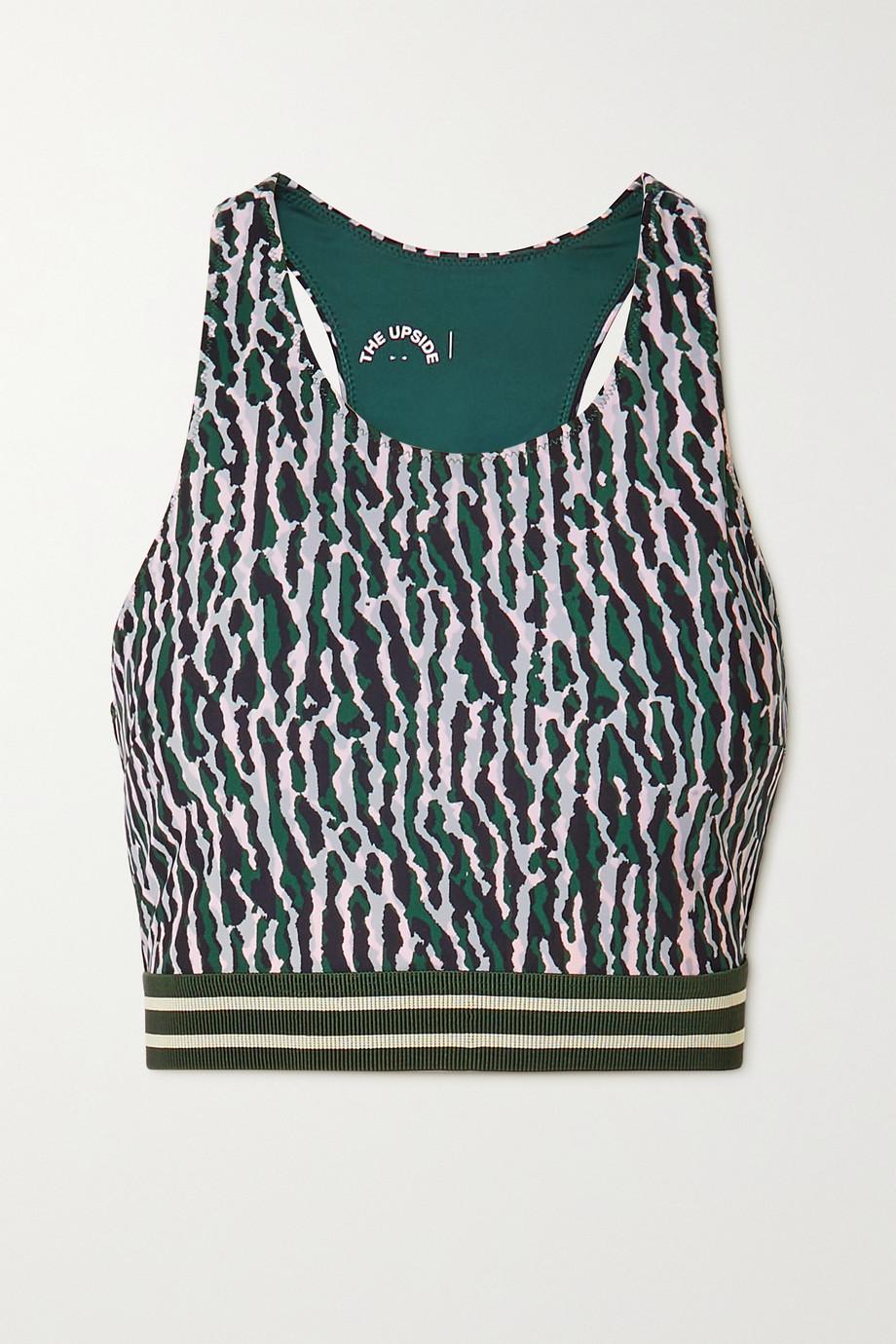 The Upside Bianca camouflage-print stretch sports bra
