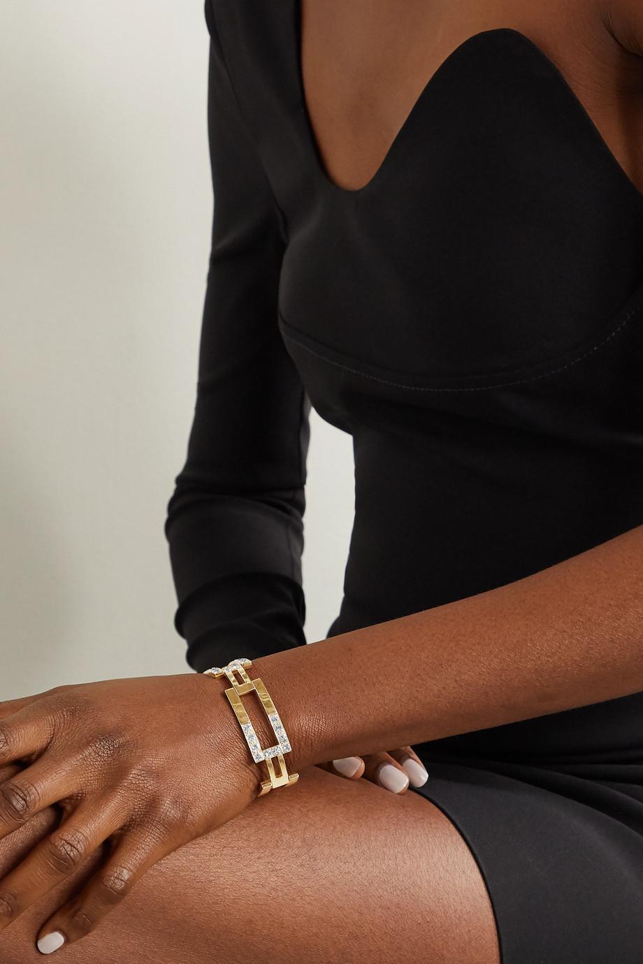 Fred Leighton 1970s 18-karat gold diamond bracelet