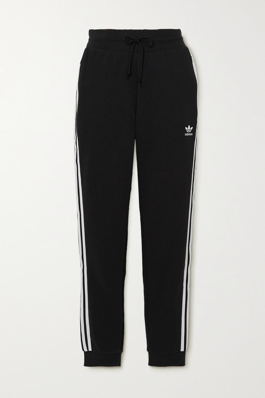 adidas Originals Adicolor striped cotton-blend jersey track pants