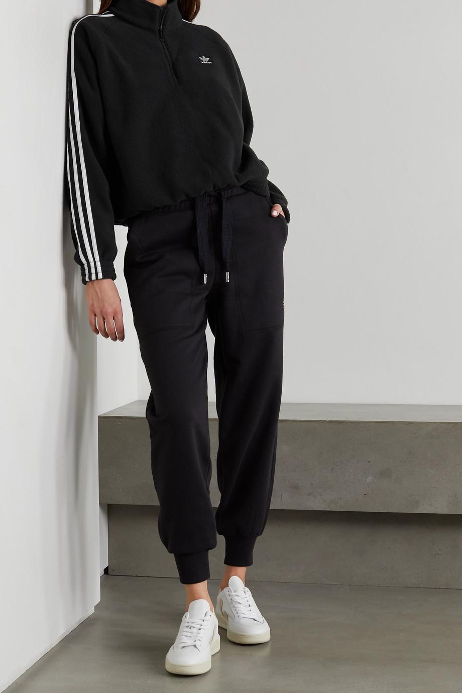 adidas Originals Striped recycled fleece sweatshirt