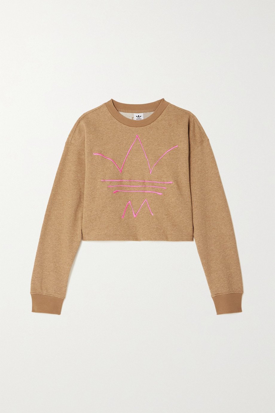 adidas Originals + Girls Are Awesome R.Y.V embroidered cotton-blend jersey sweatshirt