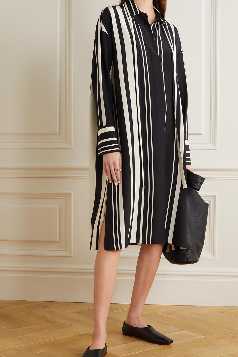 Joseph Duras striped silk-crepe midi shirt dress