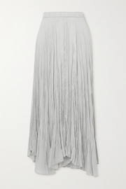 Joseph Sully asymmetric crinkled silk-habotai maxi skirt