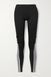 adidas Originals Striped stretch-cotton jersey leggings