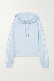 adidas Originals Adicolor Classics cropped striped cotton-jersey hoodie