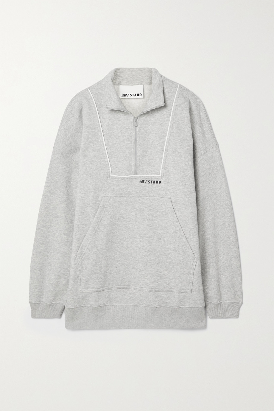 STAUD + New Balance paneled cotton-blend jersey sweatshirt