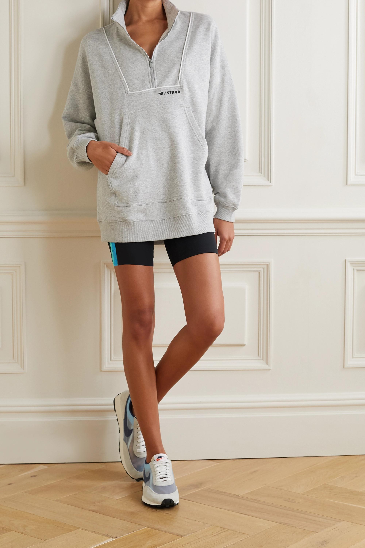STAUD + New Balance paneled cotton-blend jersey sweatshirt