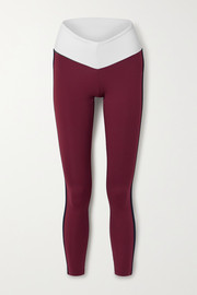 STAUD + New Balance striped stretch leggings