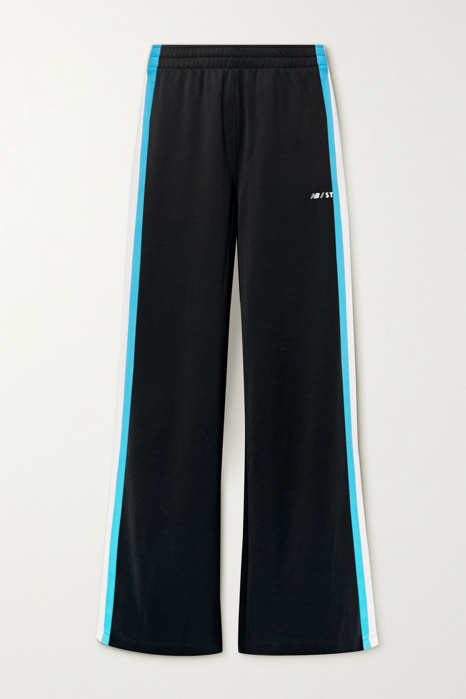 STAUD + New Balance striped stretch-jersey track pants