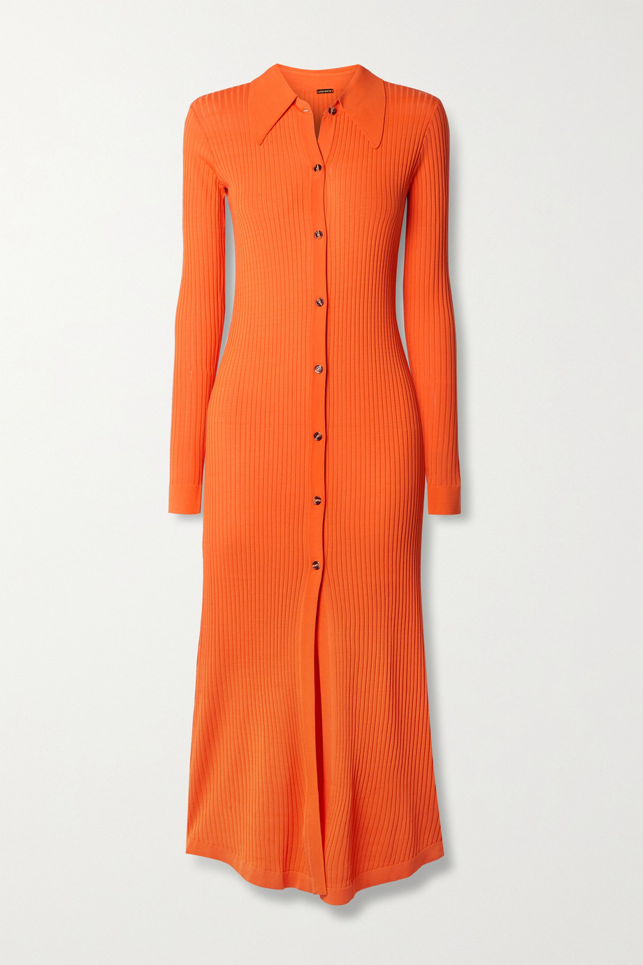 Dodo Bar Or Elisha ribbed-knit midi shirt dress