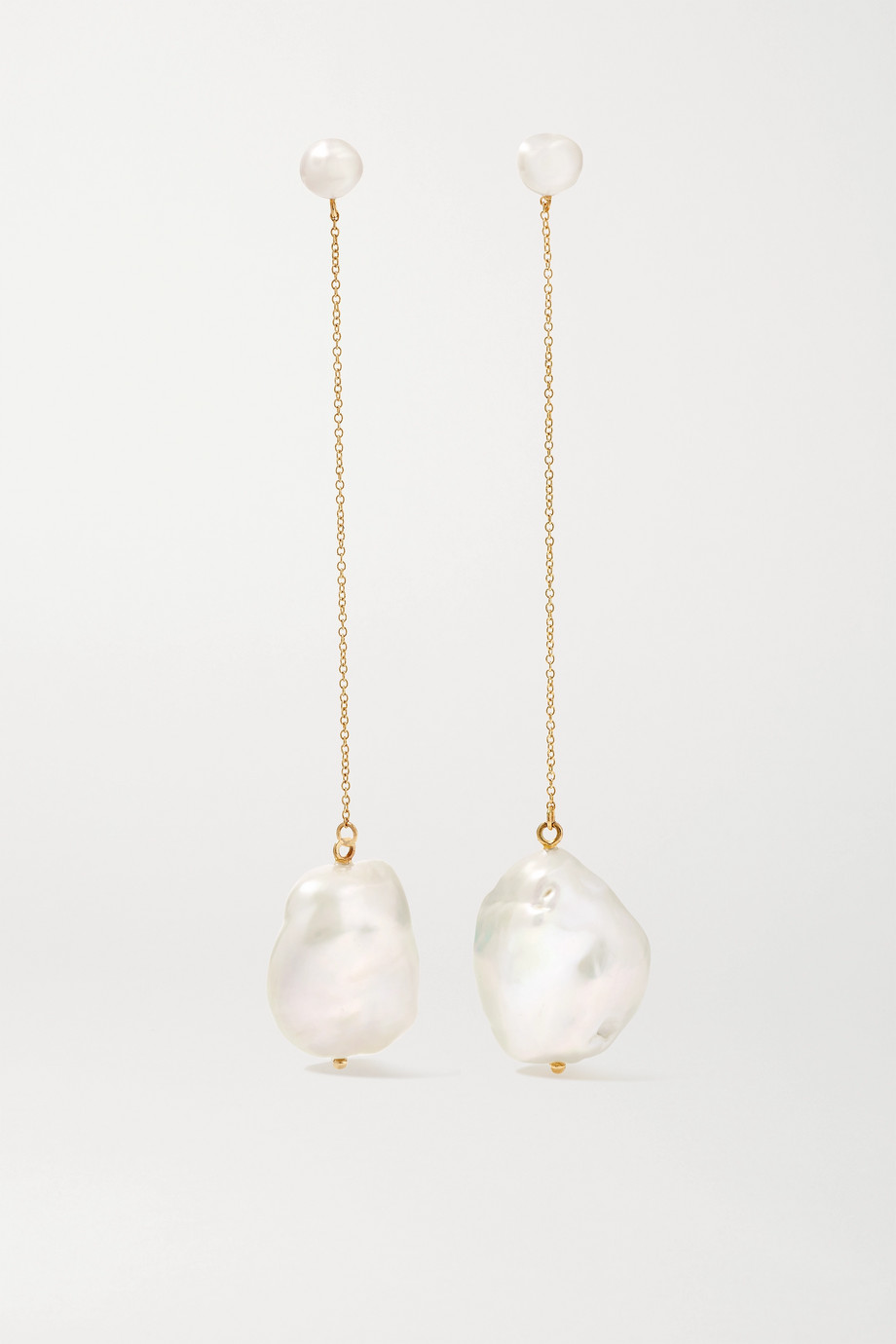 Mateo Duality 14-karat gold pearl earrings