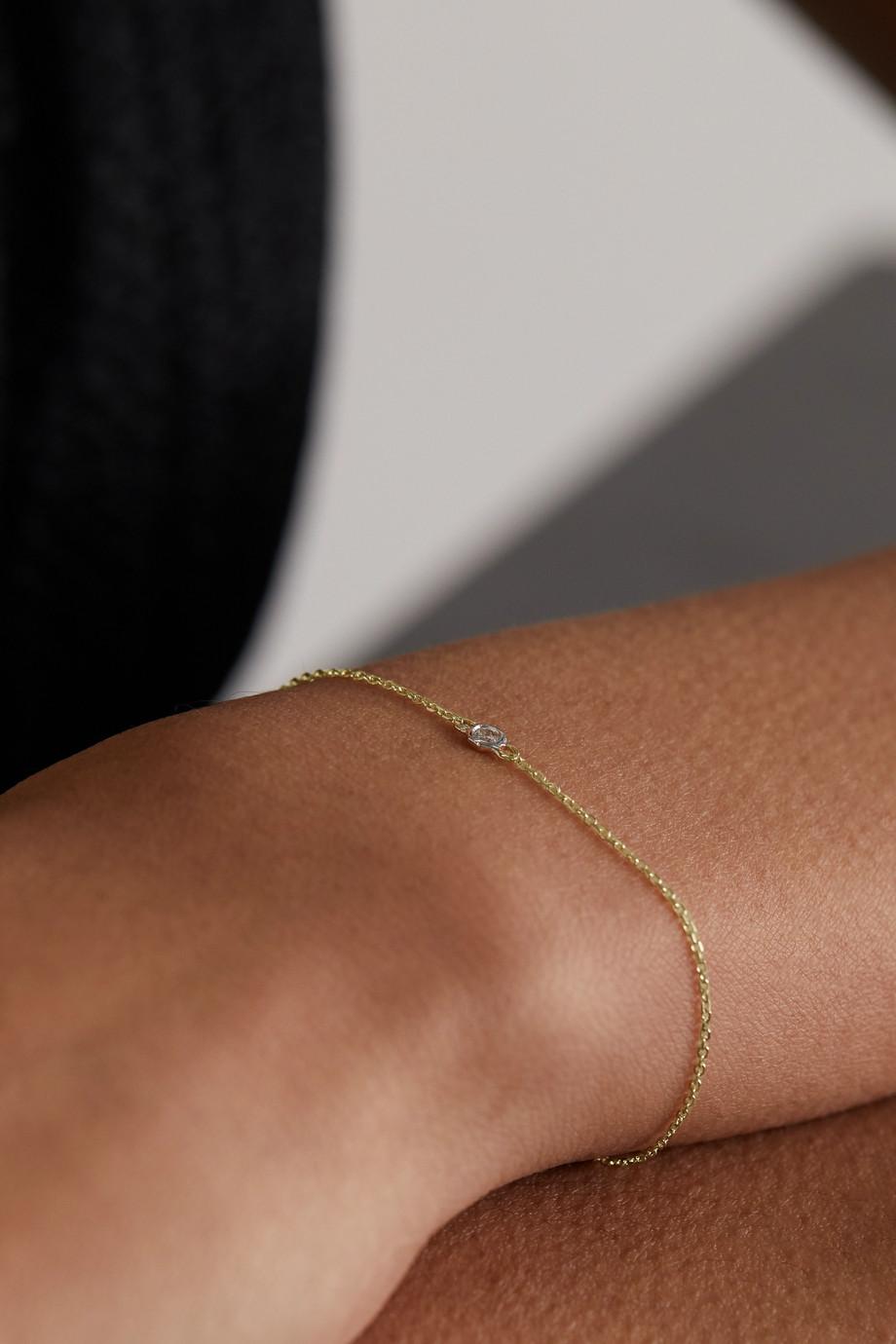 Mateo 14K 黄金钻石手链