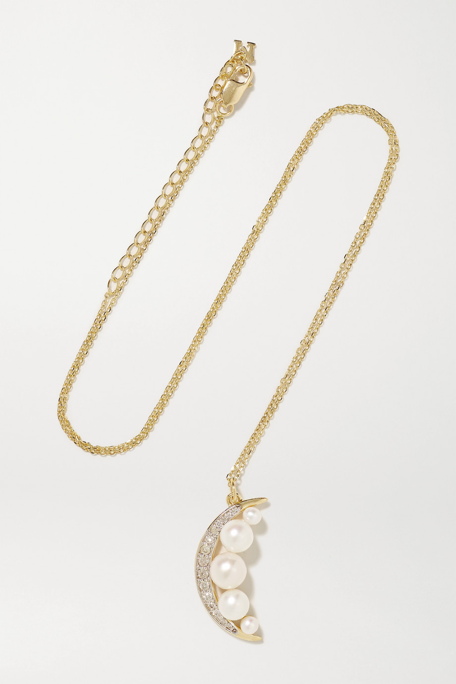 Mateo 14K 黄金、珍珠、钻石项链