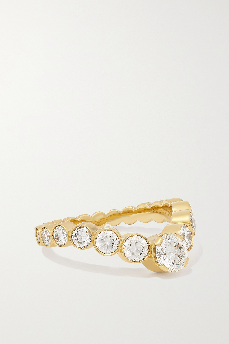 Sophie Bille Brahe Grace Ensemble Royale Ring aus 18 Karat Gold mit Diamanten