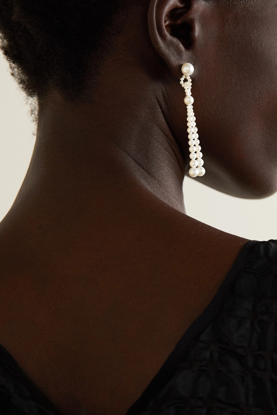 Sophie Bille Brahe Opera 14-karat gold pearl earrings