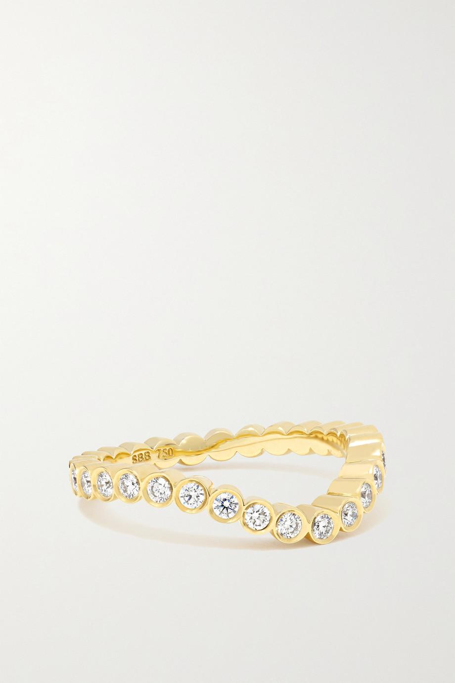 Sophie Bille Brahe Bague en or 18 carats et diamants Grace Ensemble