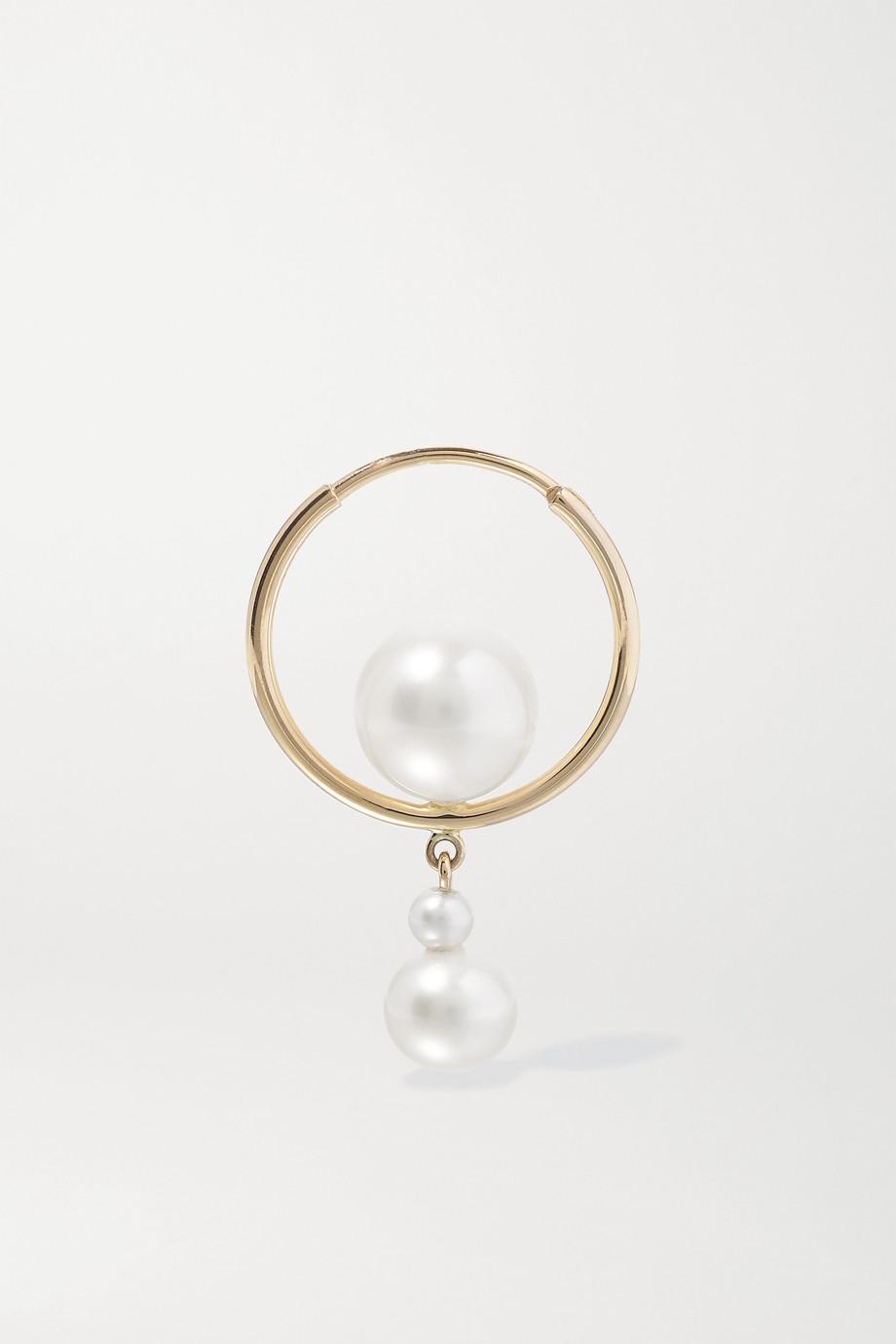 Sophie Bille Brahe Boucle d'oreille en or 14 carats et perles Babylon Elipse