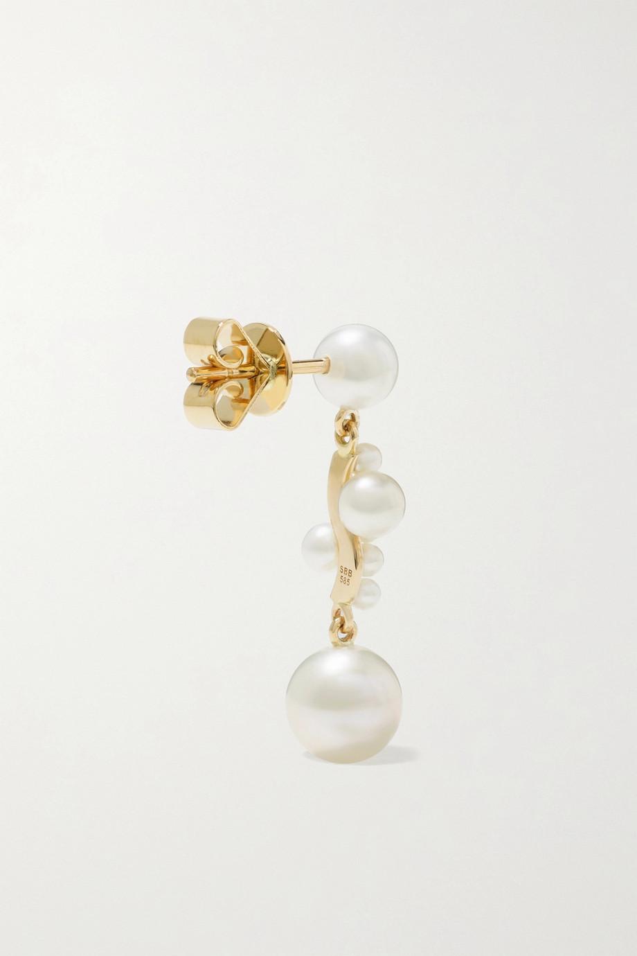 Sophie Bille Brahe Boucle d'oreille en or 14 carats et perles Petite Ocean Perle