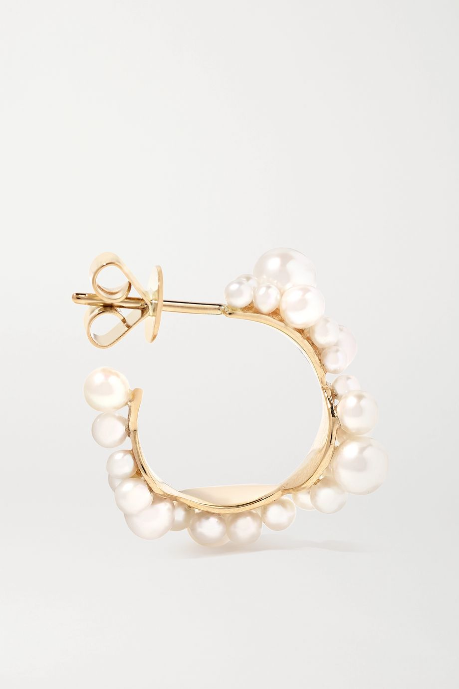 Sophie Bille Brahe Mary 14-karat gold pearl earrings