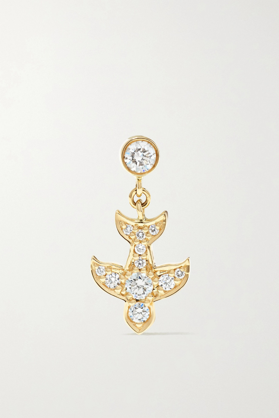 Sophie Bille Brahe Matisse 14-karat gold diamond earring