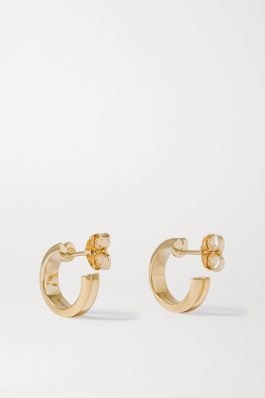 Wwake Narrow Ripple 10-karat gold hoop earrings