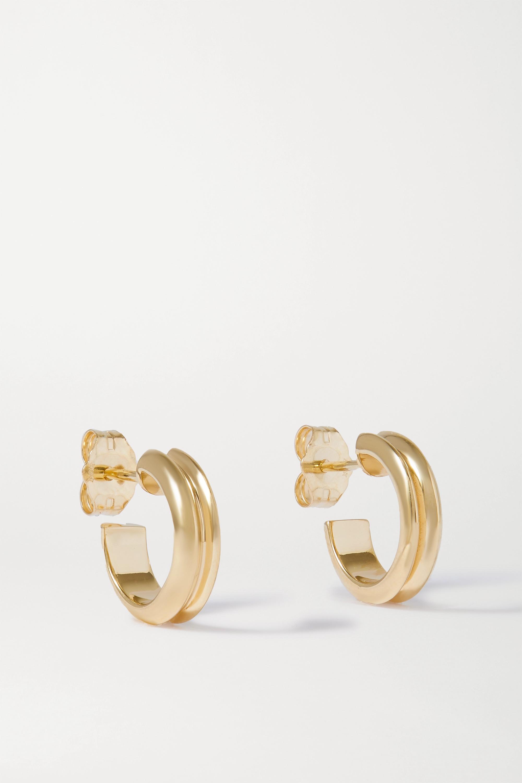 Wwake - Narrow Ripple 10-karat gold hoop earrings