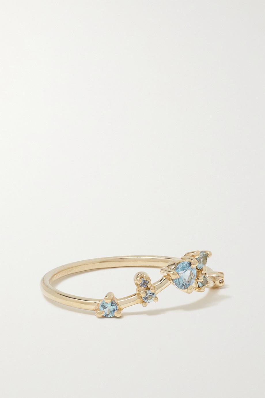 Wwake Bague en or, saphirs et diamant