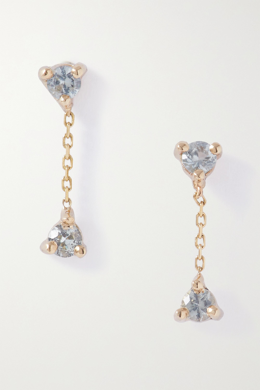 Wwake Ohrringe aus Gold mit Saphiren