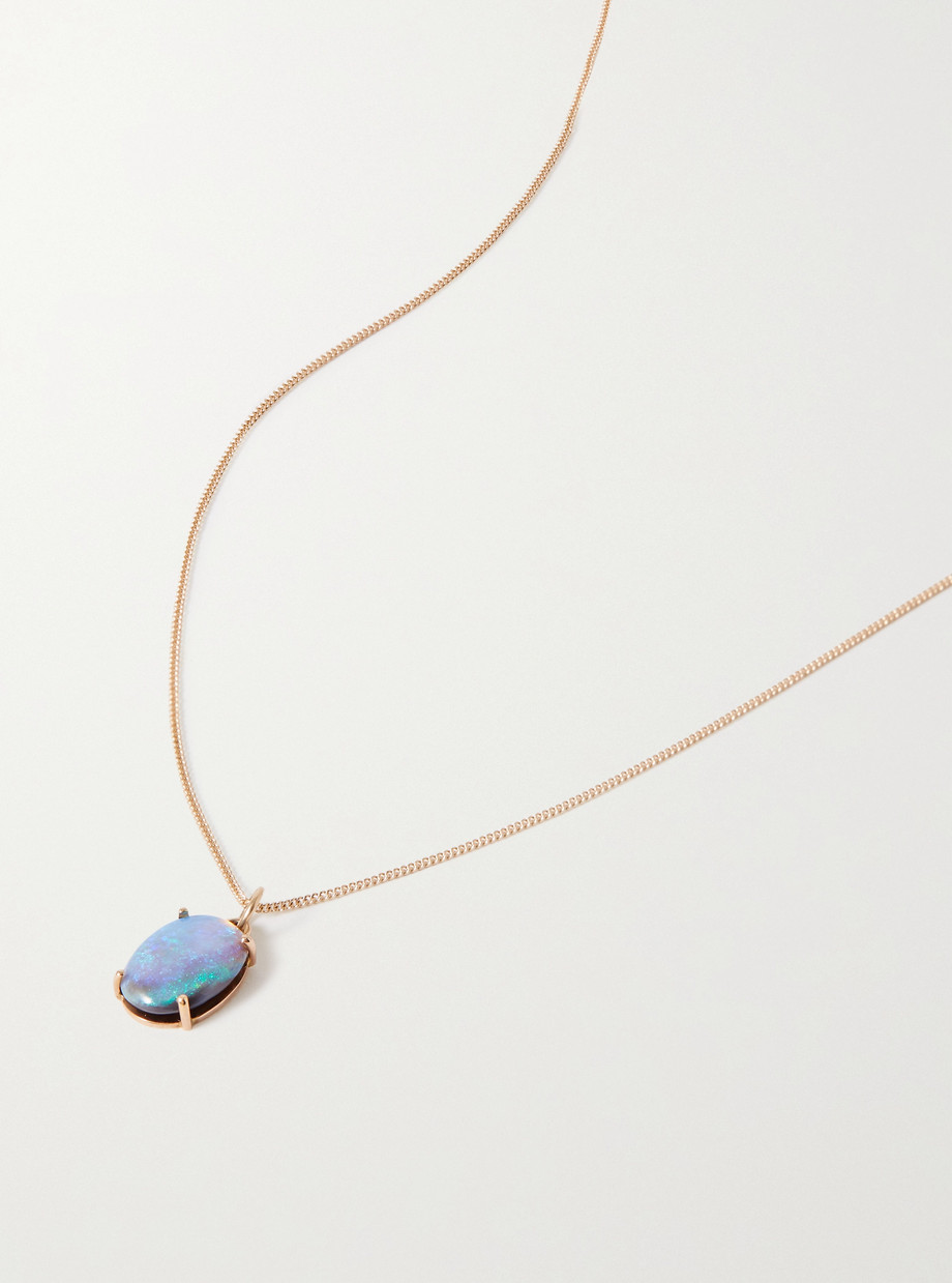 Wwake Borealis Kette aus 14 Karat Gold mit Opal