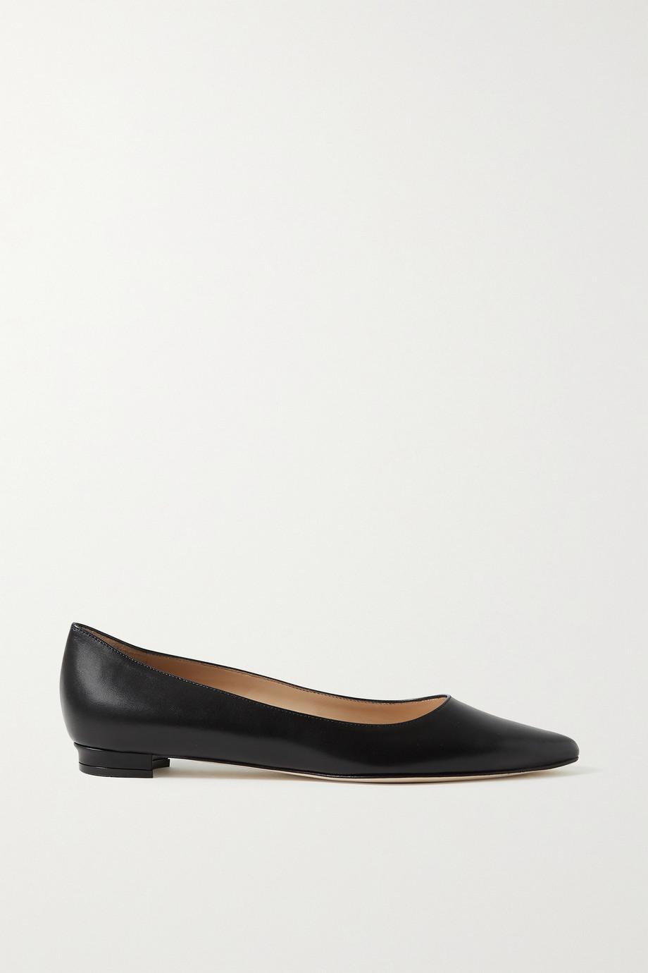 Manolo Blahnik Titto leather point-toe flats