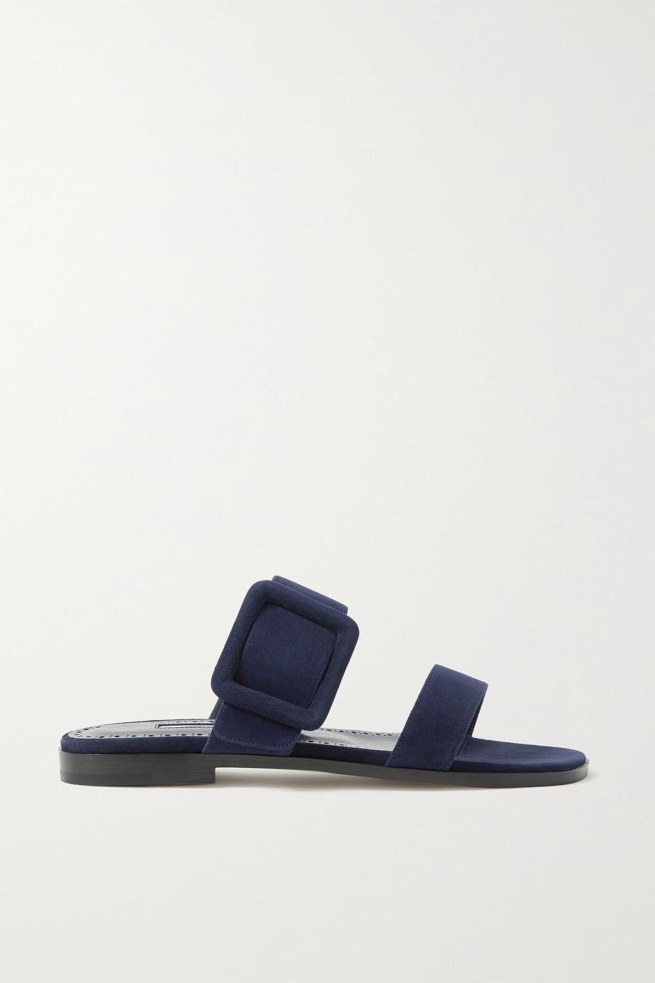 Manolo Blahnik Tituba buckled suede sandals