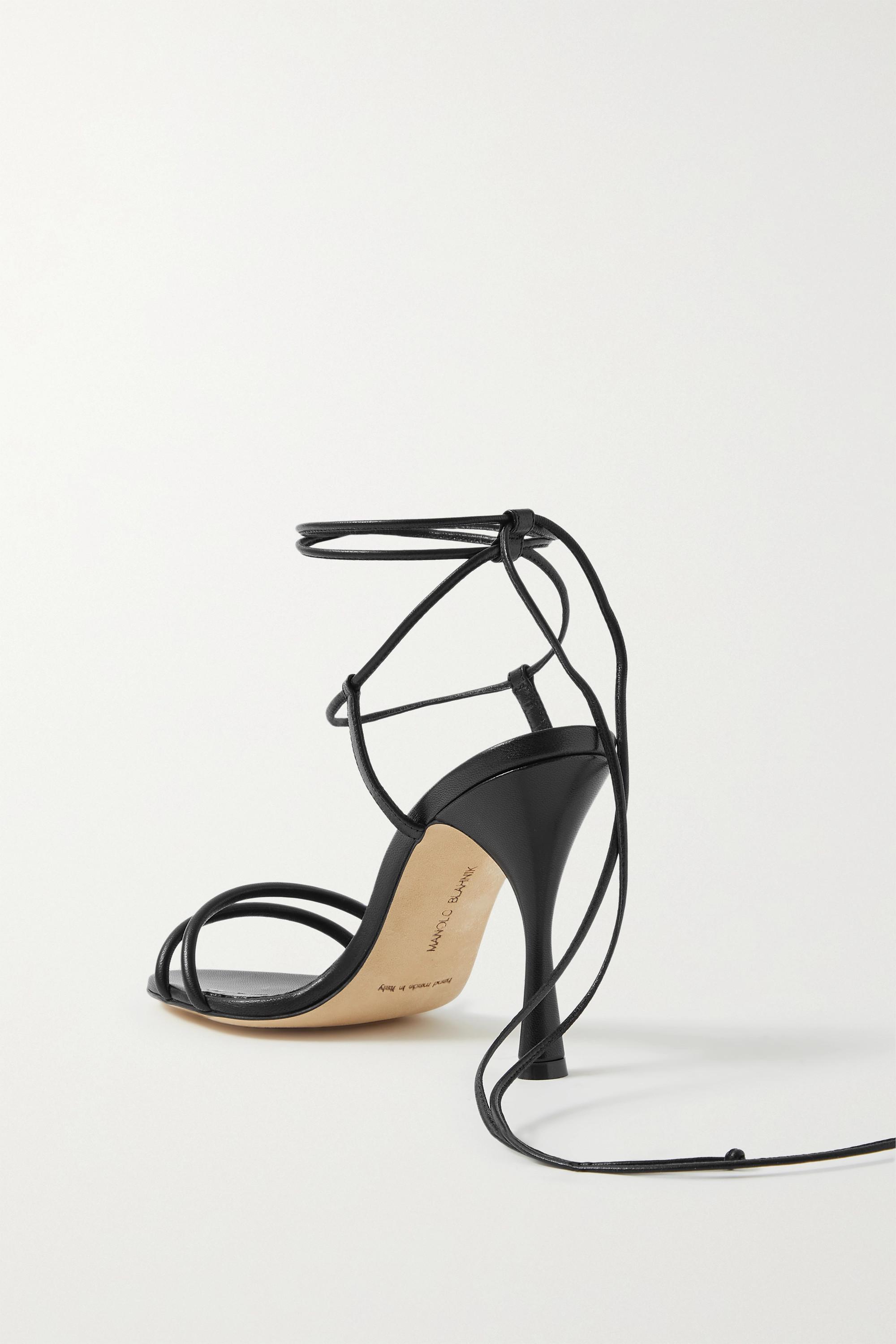 Manolo Blahnik Cochisa 105 leather sandals