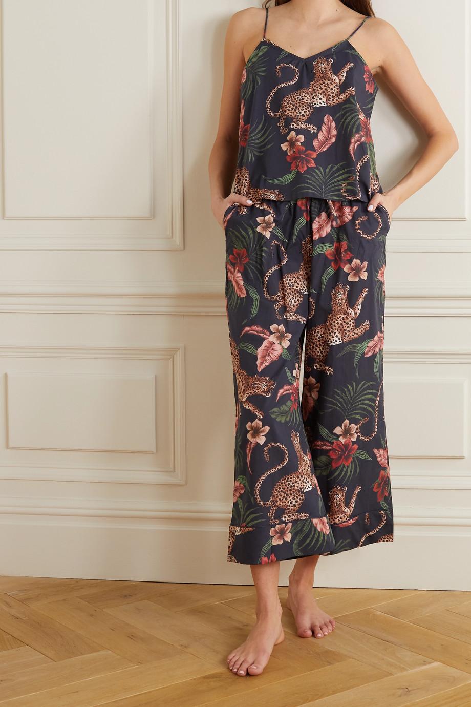Desmond & Dempsey Soleia Pyjama aus bedruckter Baumwolle
