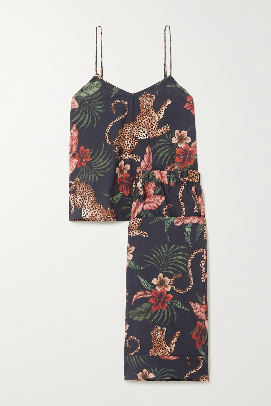 Desmond & Dempsey Soleia printed cotton pajama set