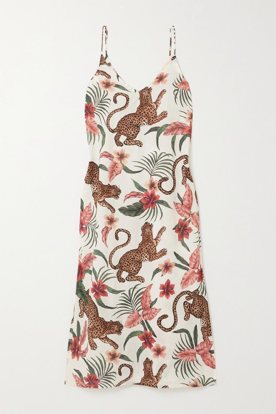 Desmond & Dempsey Soleia Nachthemd aus bedrucktem Baumwoll-Voile